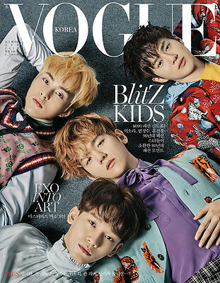Vogue Type A Korea Magazine 2017 Apr April Exo Clippings Page New