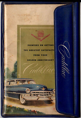 1952 Cadillac Original Owner's Manual with Vinyl Pouch for glove box