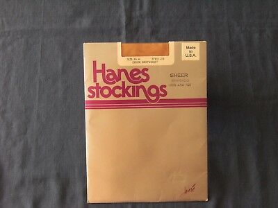 Hanes Sheer Stockings Reinforced Heel and Toe