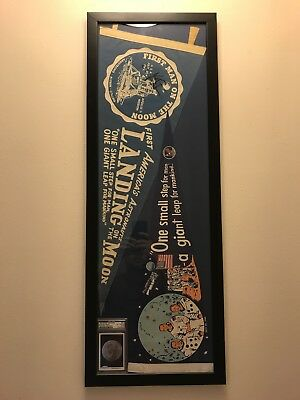 Neil Armstrong Apollo 11 Flags Signed