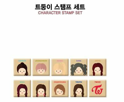 Twice Fan Meeting Once Begins Official Goods Character Stamp Set New