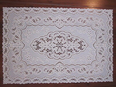 Vintage Rubber Lace Doily / Table Scarf