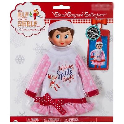 The Elf on the Shelf Claus Couture Making Spirits Bright Nightgown