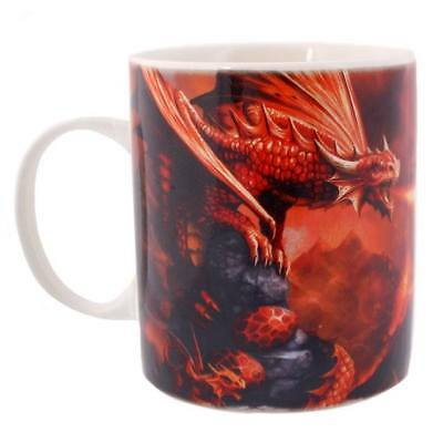 Anne Stokes boxed mug featuring the Fire Dragon design