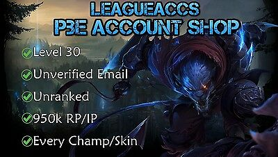 League of Legends LoL PBE Account | 950000 RP & IP | TRUSTED SELLER