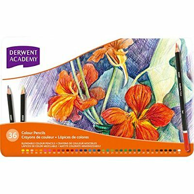 Derwent Academy Colouring Pencils Tin - Set of 36