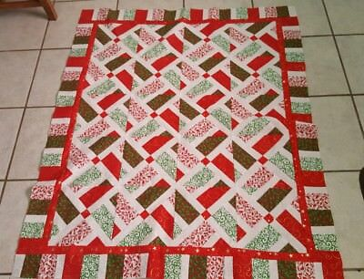 Handmade Nantucket Christmas Quilt Top ( 37 x 45 in approx ) (unfinished)