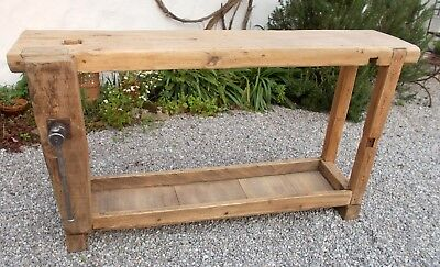 antique workbench French carpenter's bench sideboard workstation industrial