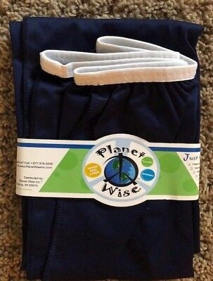 NIP Planet Wise Reusable Diaper Pail Liner - Navy