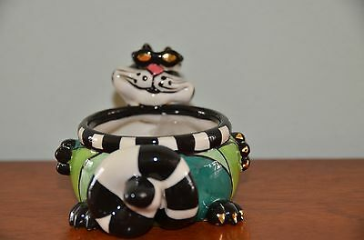 "Lynda Corneille ""Clancy with Sun Glasses"" Tea Light/Ring Holder NIB"