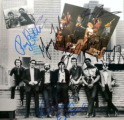 bruce springsteen & e st.band autographed x7 the river;bruce,clarence,steve,roy+