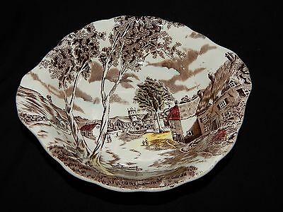 W H Grindley SUNDAY MORNING Staffordshire SERVING BOWL and PLATTER