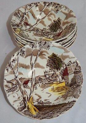 W H Grindley SUNDAY MORNING Staffordshire SALAD CEREAL BOWLS - 7