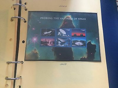 #3409-3413 Space Sheets Mnh  Nice Look   ( D112)