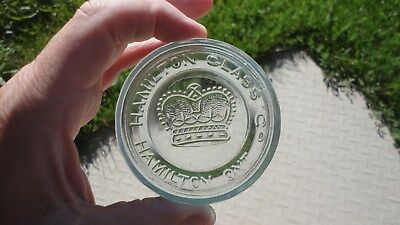 Stunning Hamilton Glass Co Hamilton Ont Crown Fuirt Jar Lid