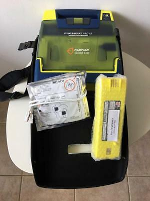 Cardiac Science Powerheart G3 AED Automatic Defibrillator, NEW Battery, NEW Pad