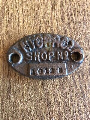 NYCRR Co. Shop Machinery Tag