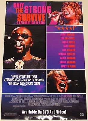 Only The Strong Survive Dvd Poster---Isaac Hayes+ Wilson Pickett+ Chi-Lites