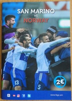 San Marino - Norway, World Cup 2018 Qualifiers Programme