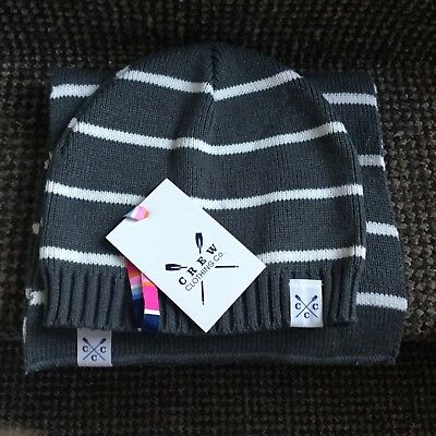Crew Clothing Co Knit Hat & Scarf Set One Size Men's Women's Kids Brand New