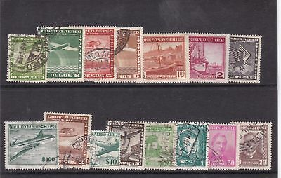 chile used stamps   Ref 9270