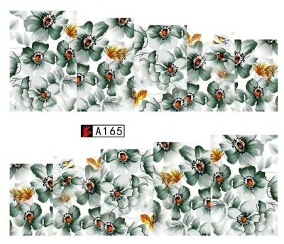Stickers Ongles Water Décal Nail Art YZW-8165 - Fleur