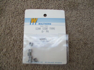 Walthers #941-792 HO Scaled 6 Metal Side Type Sinks Detail Parts Train Cars RR