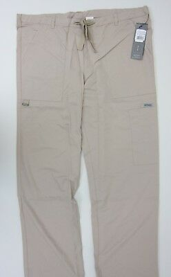 Grey's Anatomy 6 Pocket Cargo Scrub Pants - Mens Large - Khaki - NWT