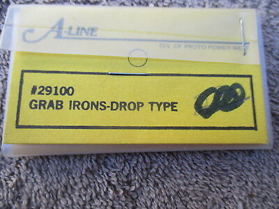 A-Line #29100 HO Scaled Metal Grab Irons Drop Type Detail Parts Trains Railroad
