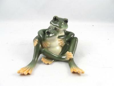 Franz Porcelain Figurine Amphibia Mother & Daughter Frog