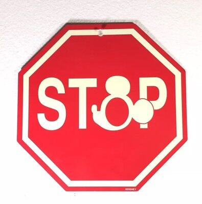 Vintage Mickey Mouse Stop Sign from Walt Disney World rare
