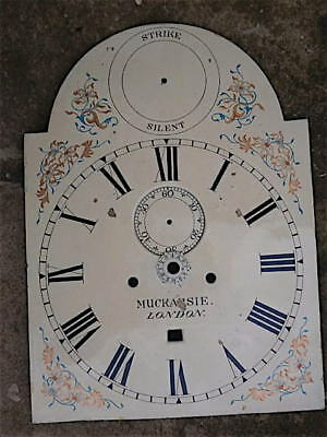12x16+1/4 inch longcase clock dial with alarm disc C1830