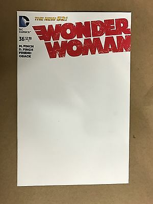 Wonder Woman #36 Blank Variant Cover 1St Print Dc Comics (2015) Justice League
