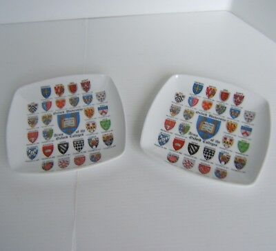 2 x Oxford University Arms Of The Oxford Colleges Melamine ? Dish / Tray