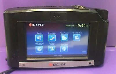 Kronos InTouch 9000 Time Clock / Biometric Touch ID - 8609000-018