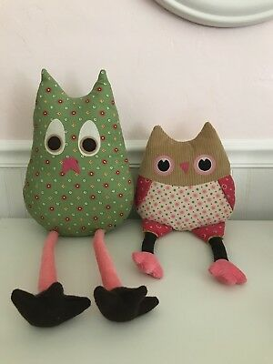 Pottery Barn Owls (Pink and Green)