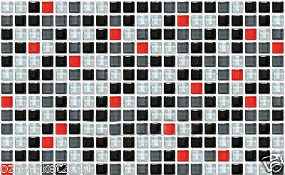 Grid Mosaic Modern Customized Waterproof Environmental Oil-proof Wallpaper