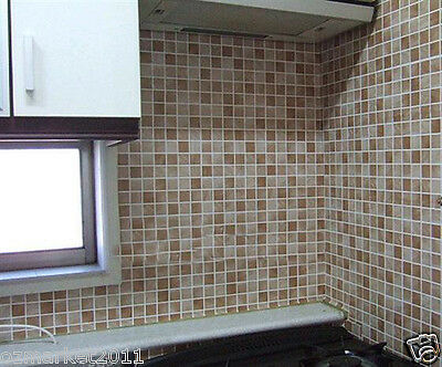 Mosaic Grid Modern Customized Waterproof Environmental Oil-proof Wallpaper
