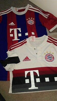 2 bayern munchen football shirts..