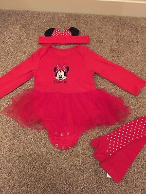 Christmas Minnie Mouse Outfit 9-12months