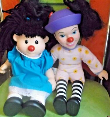 Big COMFY Couch LOONETTE & MOLLY dolls  15 inch and 14 inch