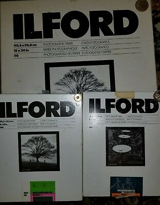 Ilford  16 x 20  40 sheets AND 8 X 10 MULTIGRADE IV and FB Photo Paper-40 sheets