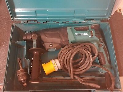 makita hr2610 3 mode sds hammer drill chisel 110v