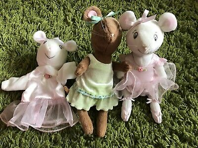 American Girl Angelina Ballerina Posable Plush Puppet And Friend Alice