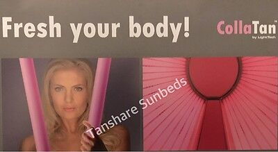 NEW. Combined Tanning and Collagen Collatan  Lamp 160w/200 6ft Sunbed Tube