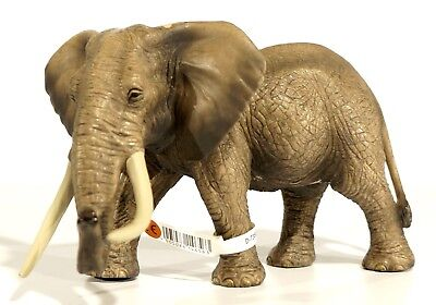 New African Elephant Male Toy Figure Hard Plastic Schleich 14656