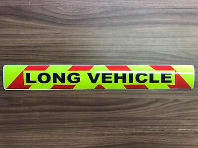 Magnetic sign LONG VEHICLE Red chevron Background Wide Load