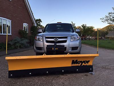 2007 57 MAZDA BT-50 4X4 DOUBLE CAB PICK UP Silver Plough Spreader Ford Ranger