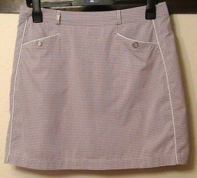 Lilac/white Check Golf Skorts By Green Lamb Size 14