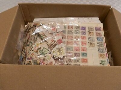 box of mixed world stamps
